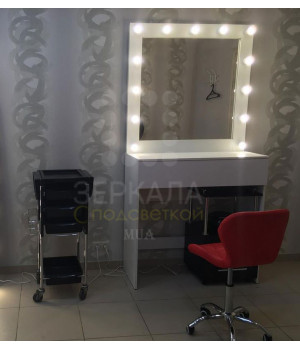 Гримерный стол Верона с зеркалом и подсветкой