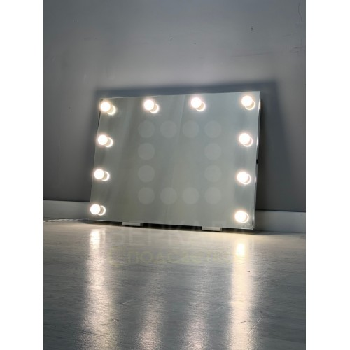 Гримерное зеркало настенное без рамы 60x80 с LED лампами